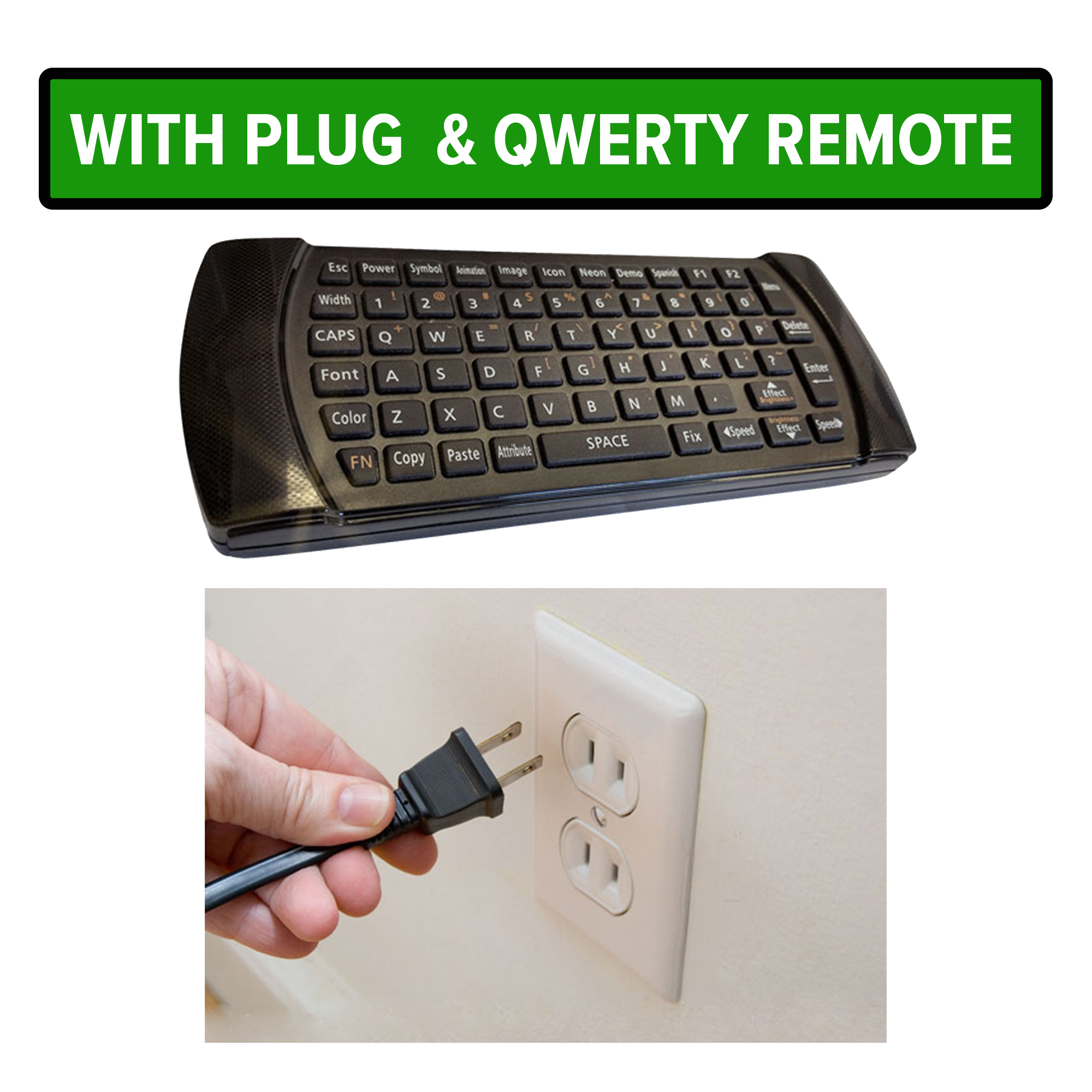 Qwerty-remote-and-plug