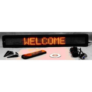 4X26 AMBER ELECTRONIC SCROLLING LED MESSAGE SIGN