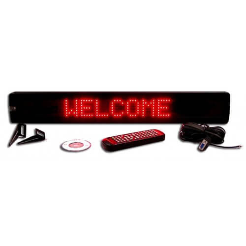 4X26 RED ELECTRONIC SCROLLING LED MESSAGE SIGN