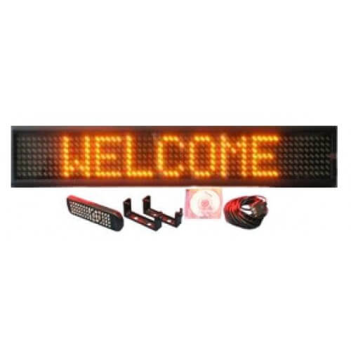 6X38 AMBER ELECTRONIC SCROLLING LED MESSAGE SIGN