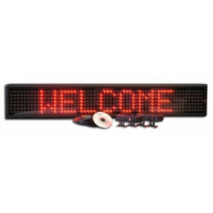 6X38 RED ELECTRONIC SCROLLING LED MESSAGE SIGN