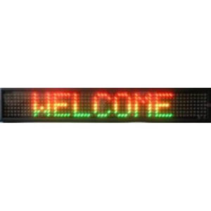 6X38 THREE COLOR SCROLLING ELECTRONIC LED MESSAGE SIGN