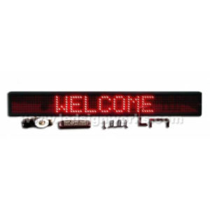 6X49 LARGE RED ELECTRONIC SCROLLING LED MESSAGE SIGN