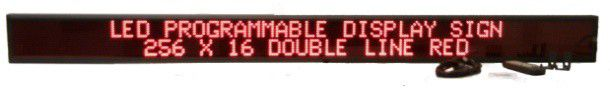 DO-SERIES RED DOUBLE LINE INDOOR PROGRAMMABLE LED SIGN SIZE 6 X 77.5