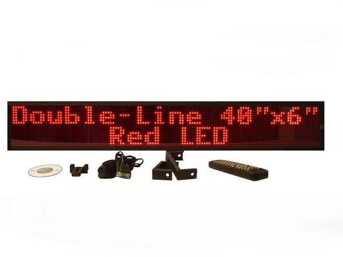 DO-SERIES RED DOUBLE LINE INDOOR PROGRAMMABLE LED SIGN