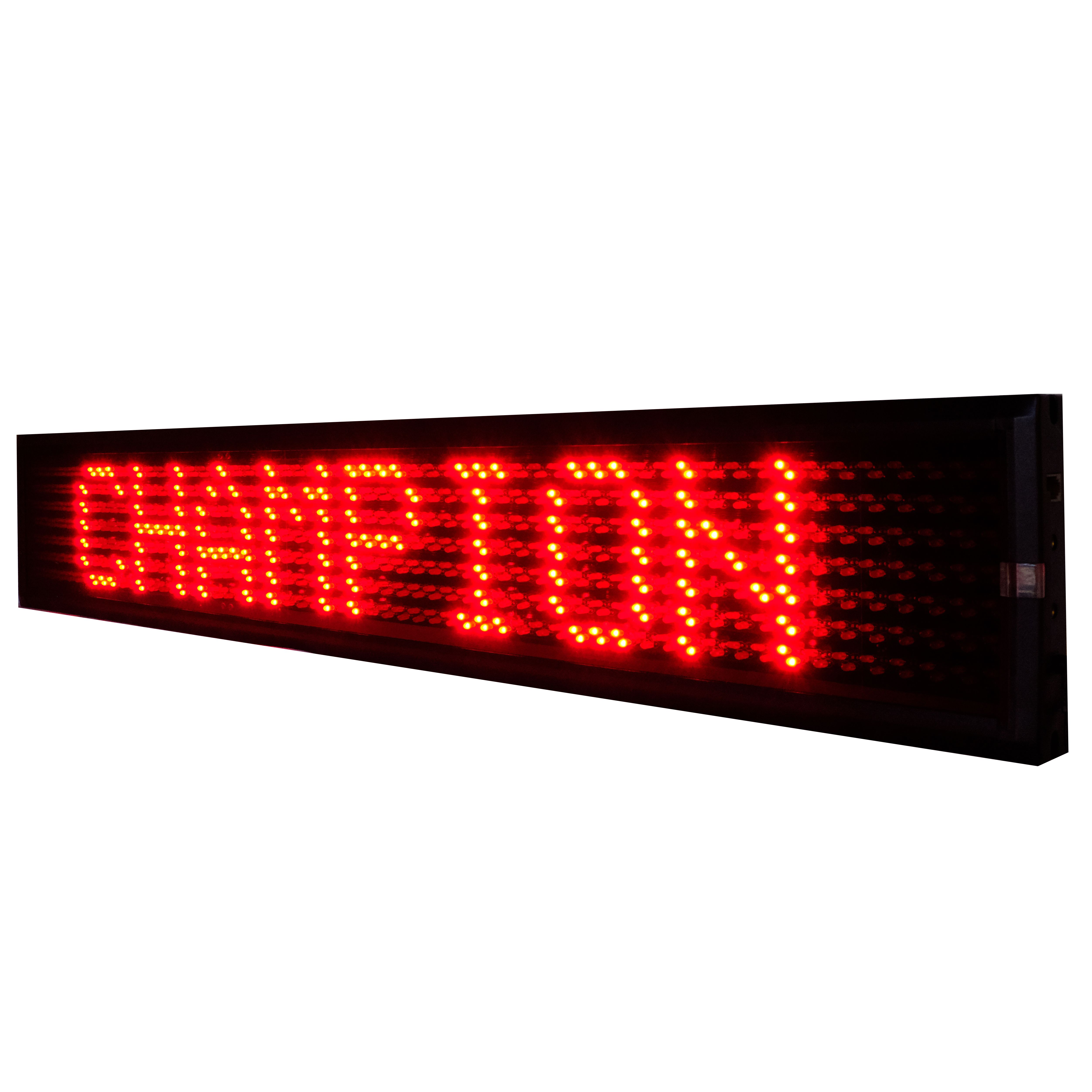 L-SERIES RED SINGLE LINE SEMI-OUTDOOR PROGRAMMABLE LED SIGN