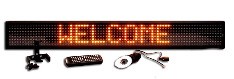 L-SERIES YELLOW SINGLE LINE SEMI-OUTDOOR PROGRAMMABLE LED SIGN