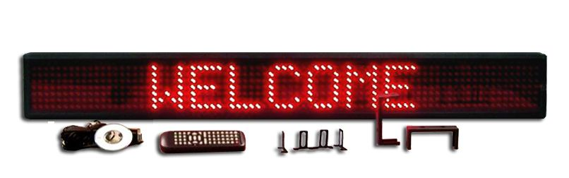 XL-SERIES RED SINGLE LINE SEMI-OUTDOOR PROGRAMMABLE LED SIGN